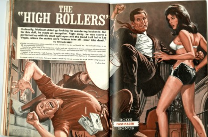 The artwork as it appeared in Stag Magazine, August, 1967 (included in sale)