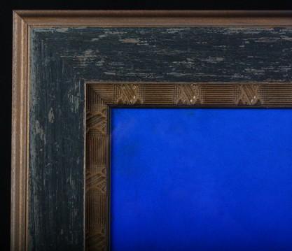 Corner detail of handsome gallery frame