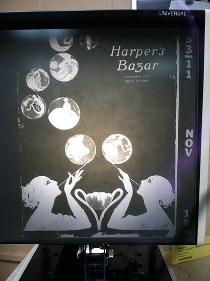 The image as the cover of Harper's Bazar - November, 1918.