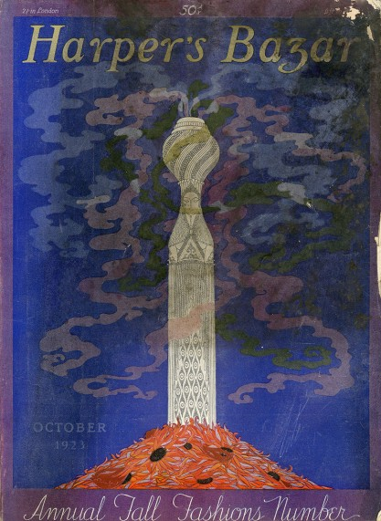 Original artwork as the cover for October 1923 Harper's Bazar
