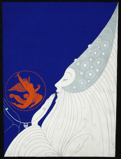 Cover Gouache painting for Harper's Bazaar - December, 1932
