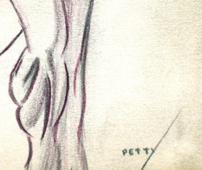 Signature in pencil lower right