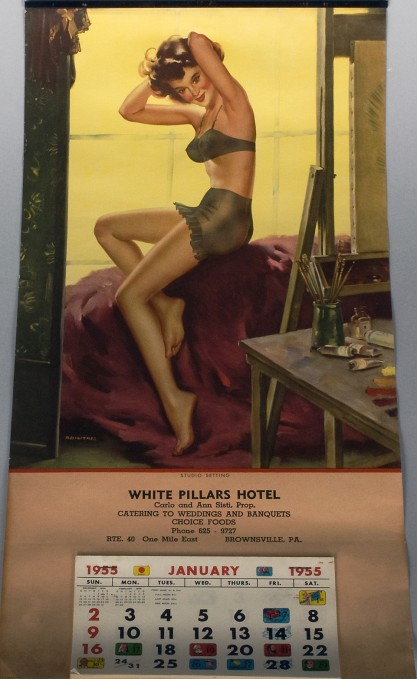 Dated 1955 Calendar of Studio Setting (included in sale)