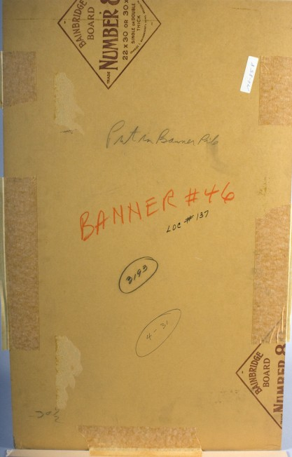 Verso view of publication notations