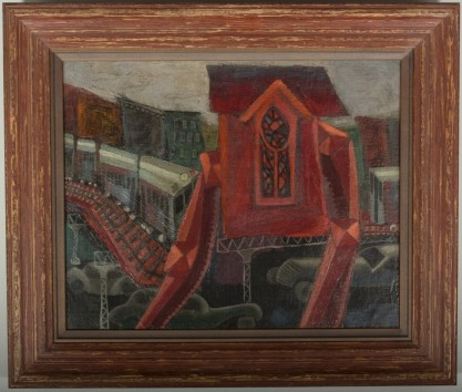 Framed view in Larson-Juhl wood gallery frame