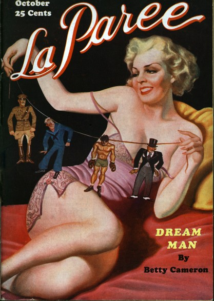 The artwork as it appeared as the October, 1935 cover for La Paree.
