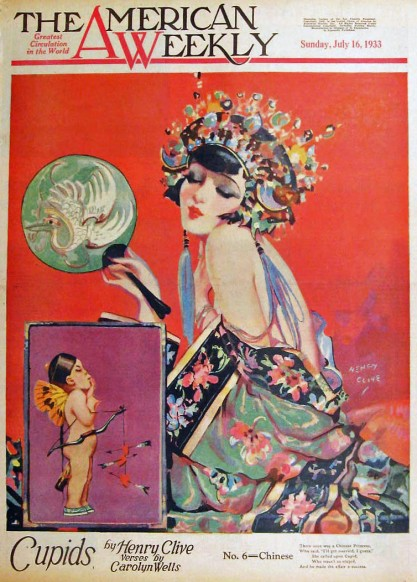 The artwork as it appeared as the cover for The American Weekly - July 16, 1933