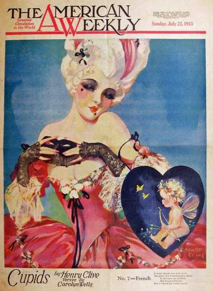The artwork as it appeared in print as The American Weekly cover -  July 23, 1933