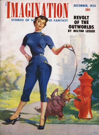 The illustration as the cover of Imagination November, 1954 (included in sale)