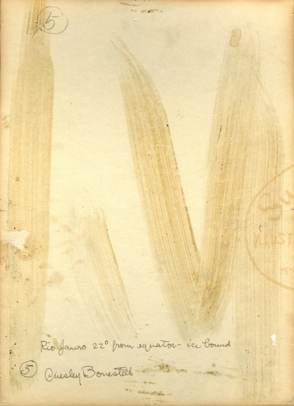 Verso notations and signature in the artist's hand