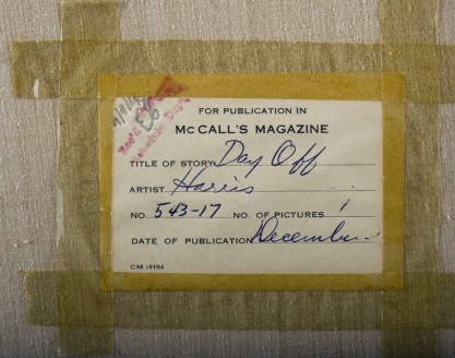 McCall's verso label on back of canvas detail