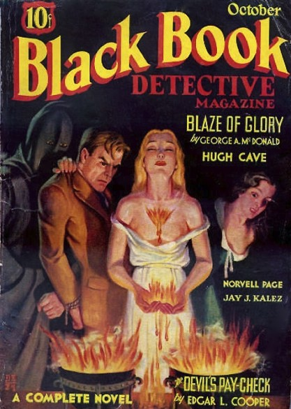 The artwork as the cover of Black Book Detective Magazine - Oct, 1934