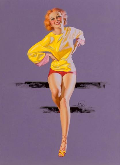 Full view of pastel illustration