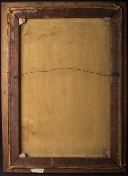 Verso view of old canvas on original stretcher bars