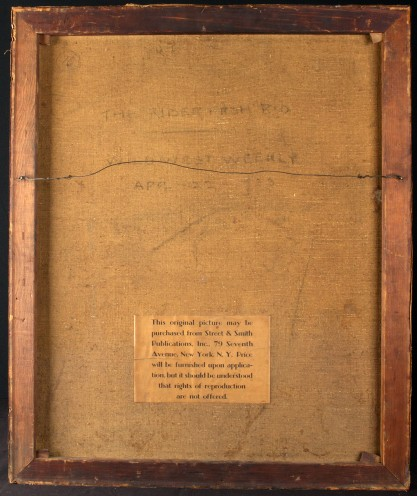 Verso view as notated by Street & Smith's Publishers