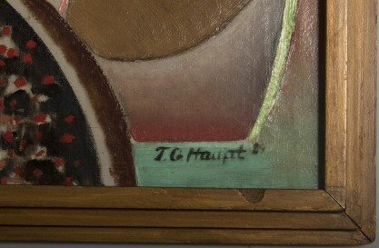 The artist's signature and date of 1929 lower right corner