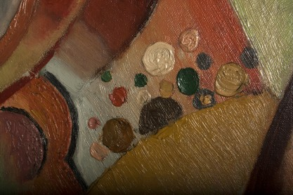 Detail of impasto work