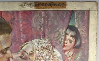 "Proposed title of ""The Peer-Age"" in the artist's hand"