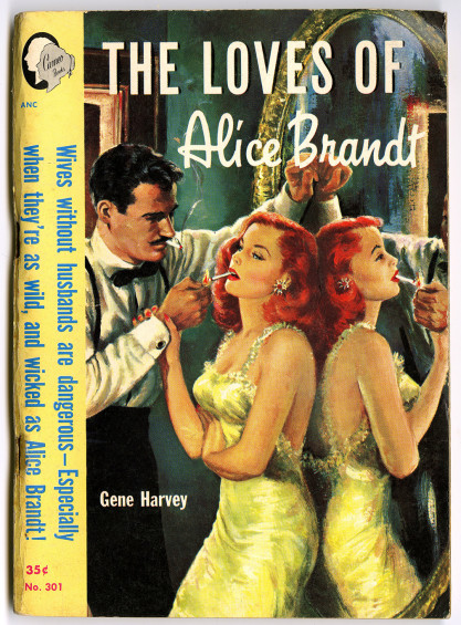 The Illustration as the cover for the 1951 Cameo Book - The Loves of Alice Brandt.