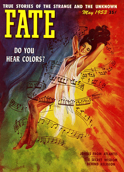 The artwork as it appeared as the May, 1953 cover for Fate (included in sale).