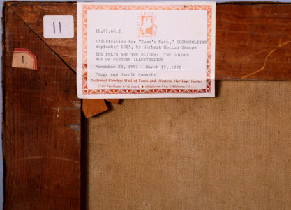 Verso exhibit label