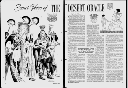 The illustration as it appeared in the American Weekly.