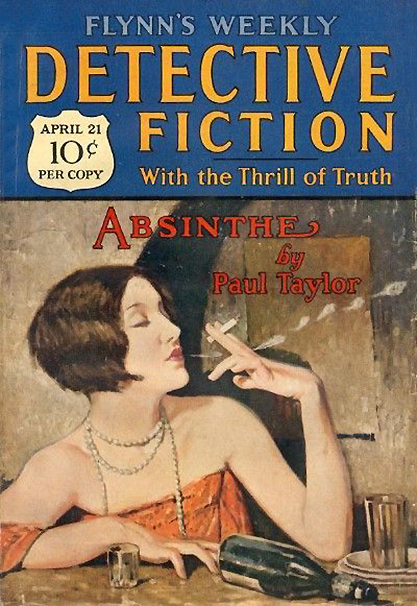 The illustration as it appeared as the cover of Flynn's Detective Fiction Weekly Pulp - April 21, 1928