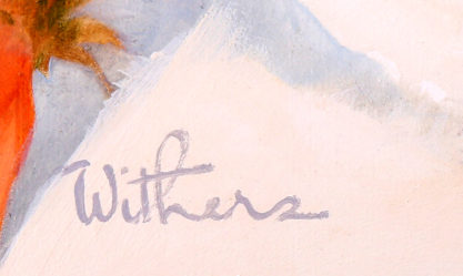 The artist's signature lower middle