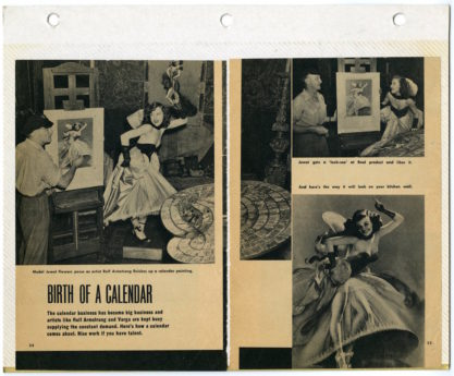 """An article on Jewel Flowers featuring her in the """"On The Beam"""" costume. Taken from her personal scrapbook."""