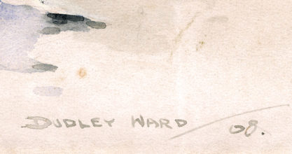 The artist's signature and date of 1908 lower right