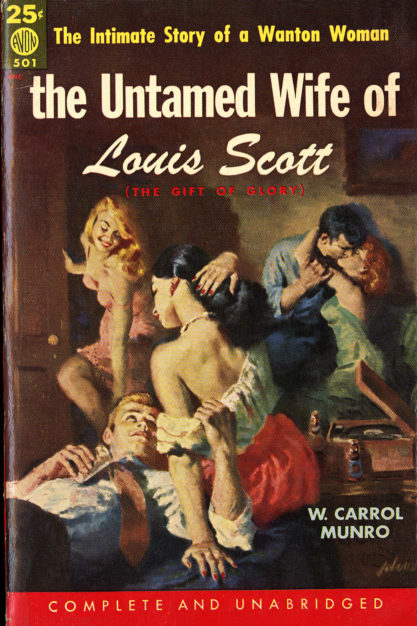 The illustration as published as cover art for The Untamed Wife of Louis Scott - Avon Books (included in sale)