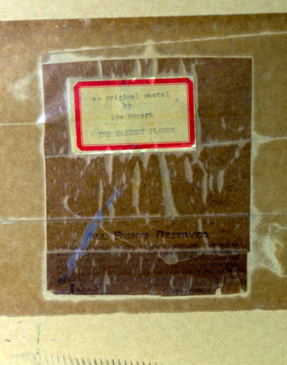 Verso Inventory label from Brown & Bigelow