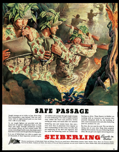 A tear sheet of the advertisement as it appeared in Collier's - Oct. 2, 1943 (included in sale)