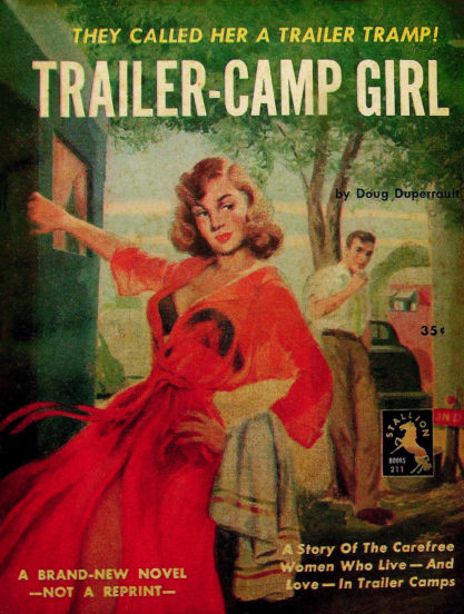 The artwork as it appeared as the cover for Trailer-Camp Girl