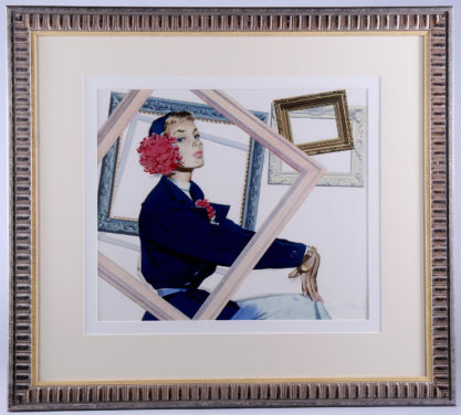 Handsomely matted and framed under glass view
