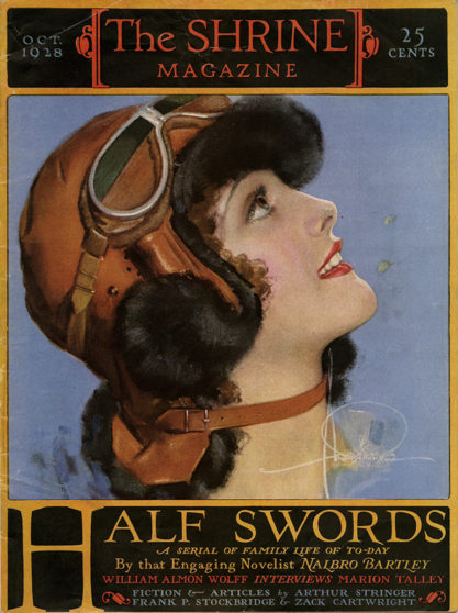 Rolf Armstrong cover girl for The Shrine Magazine (October, 1928)c