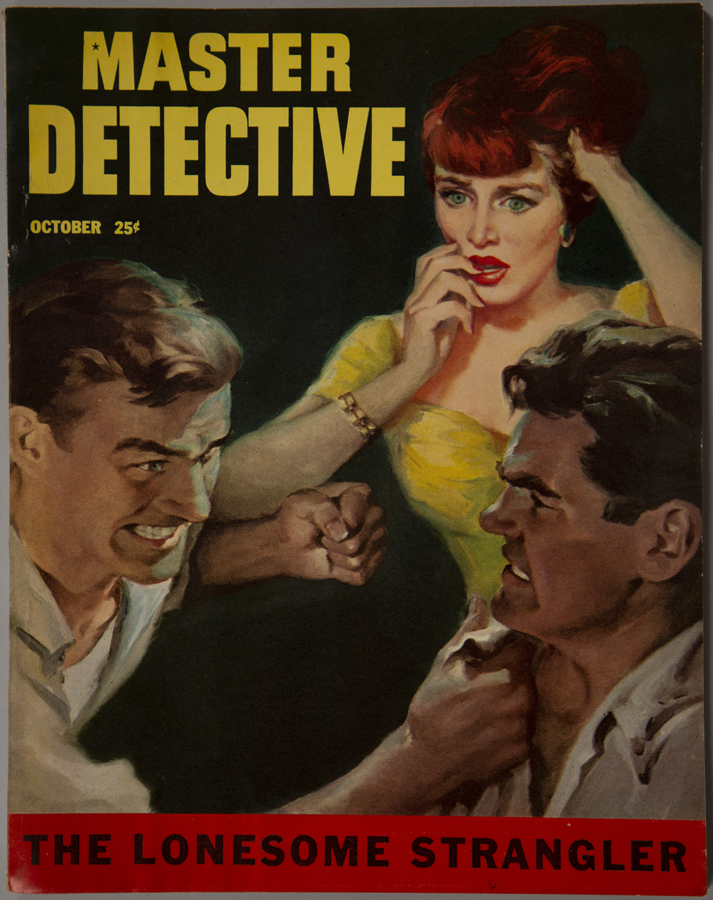 The artwork as it appeared on the cover of Master Detective magazine, October 1953