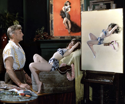 Rolf Armstrong in studio