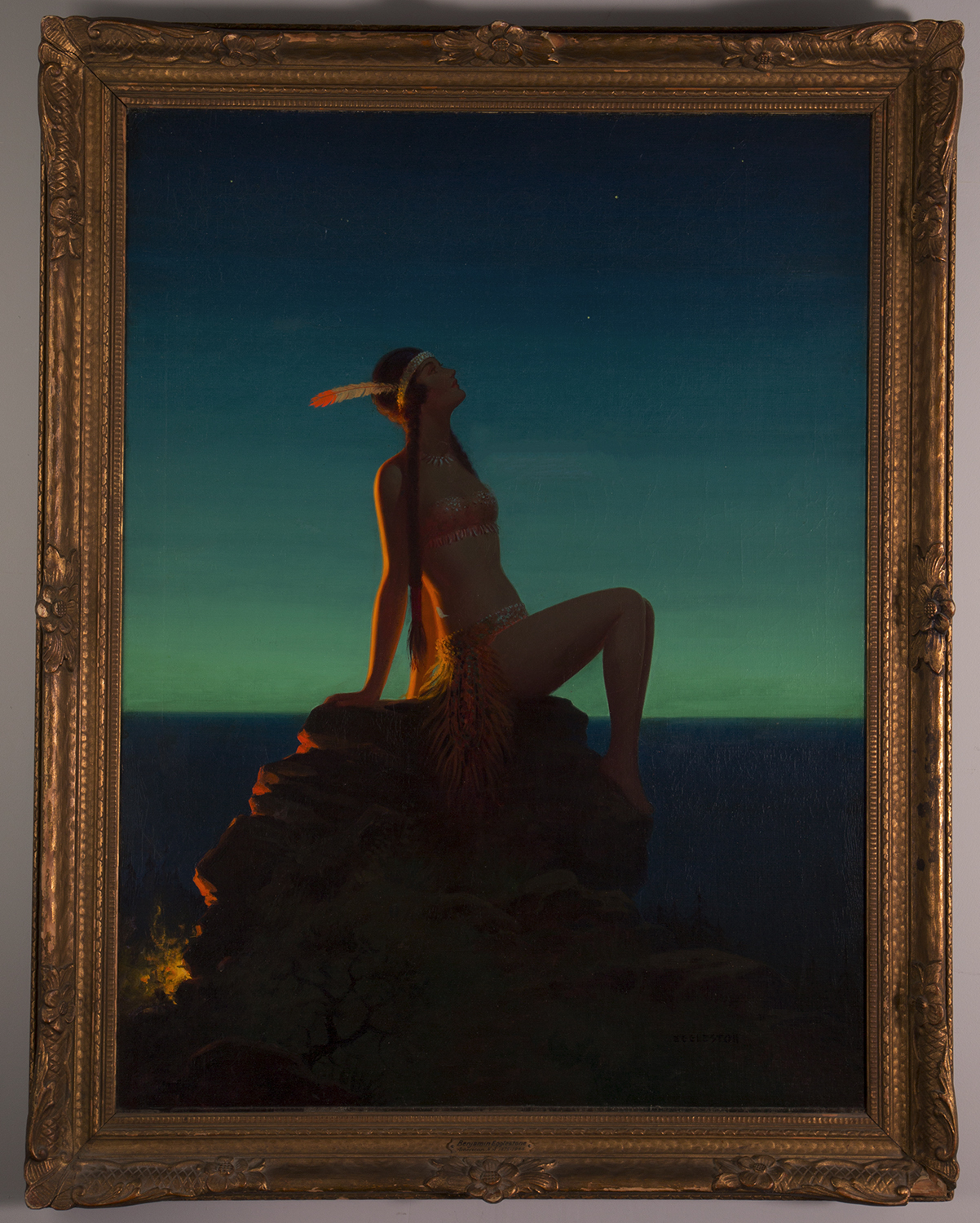 Framed view of Indian Maiden painting by Edward Eggleston