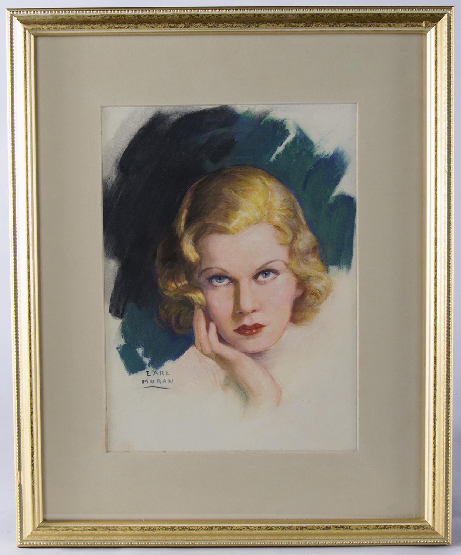 Earl Moran by Jean Harlow Framed
