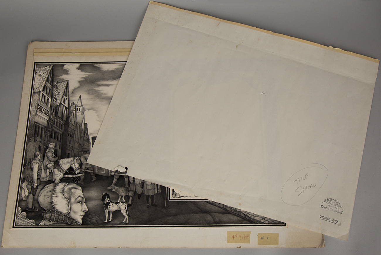 View of illustration board with its paper overlay