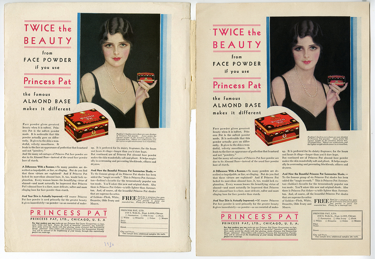 Published examples of the advertisement