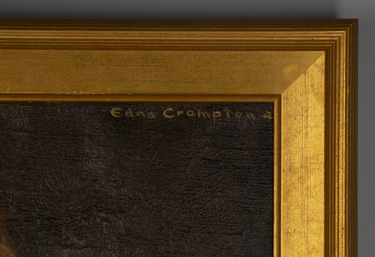 The artist's signature, upper right