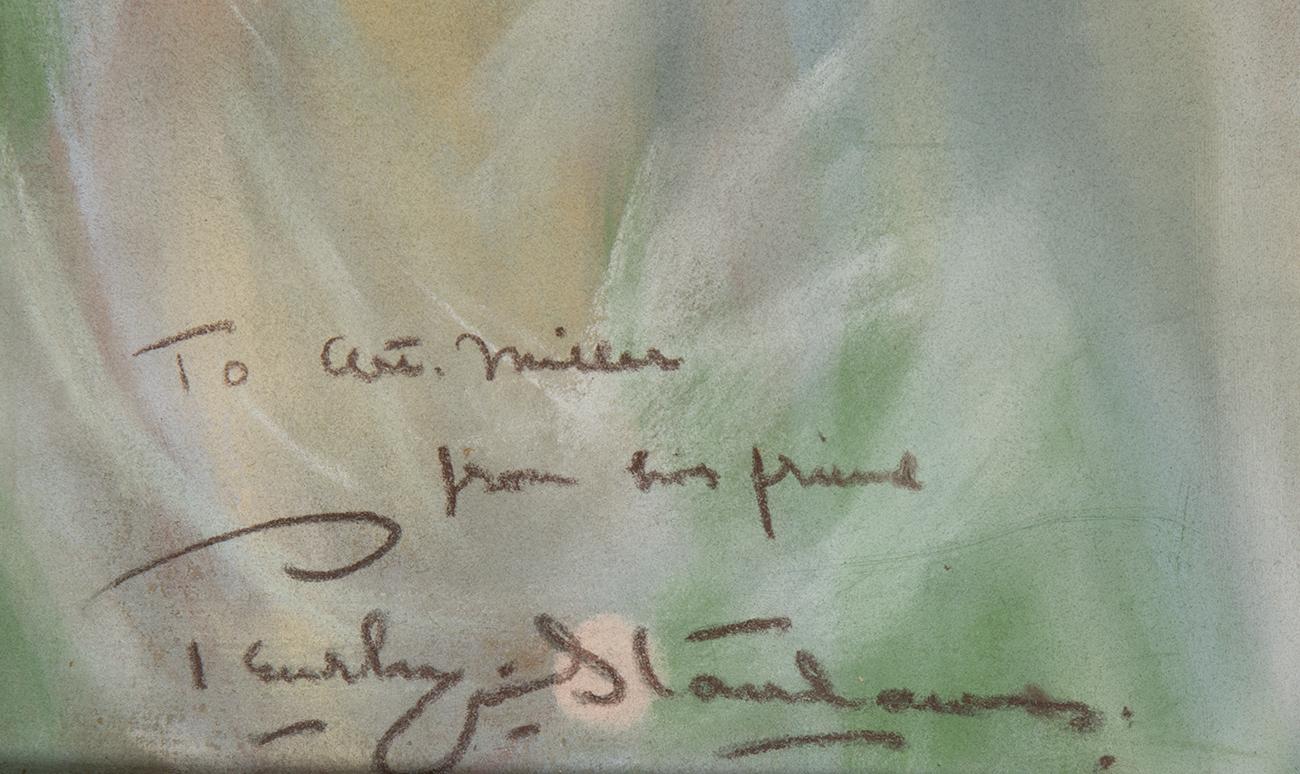 The artist's signature, lower left