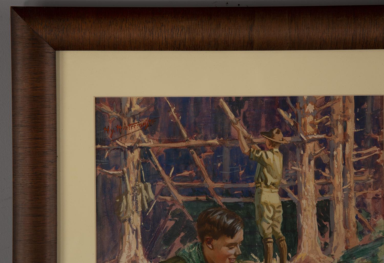 The artist's signature at upper left