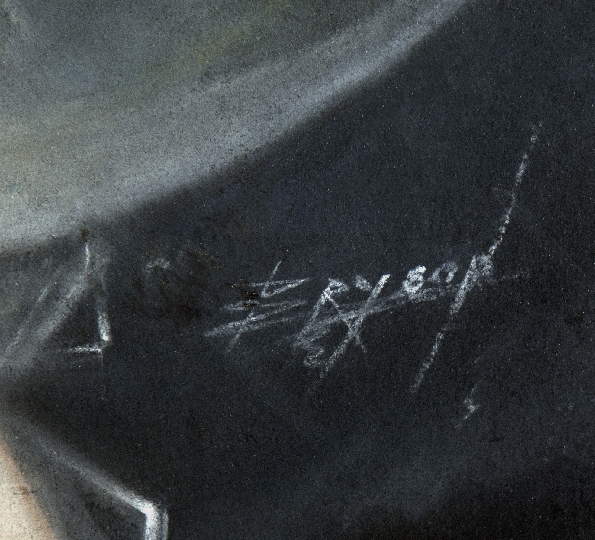 The artist's signature, lower right