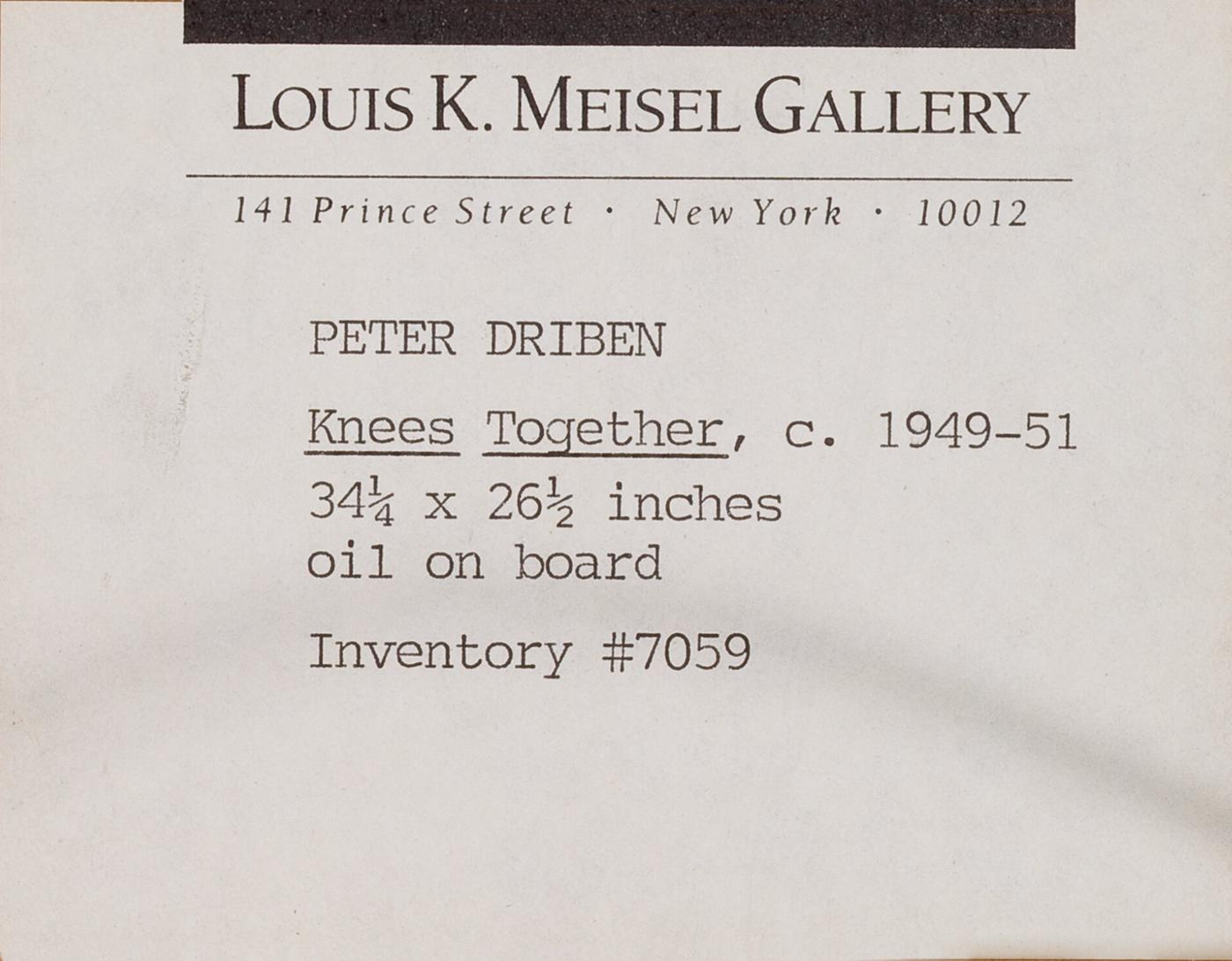 Louis K. Meisel Gallery label on verso