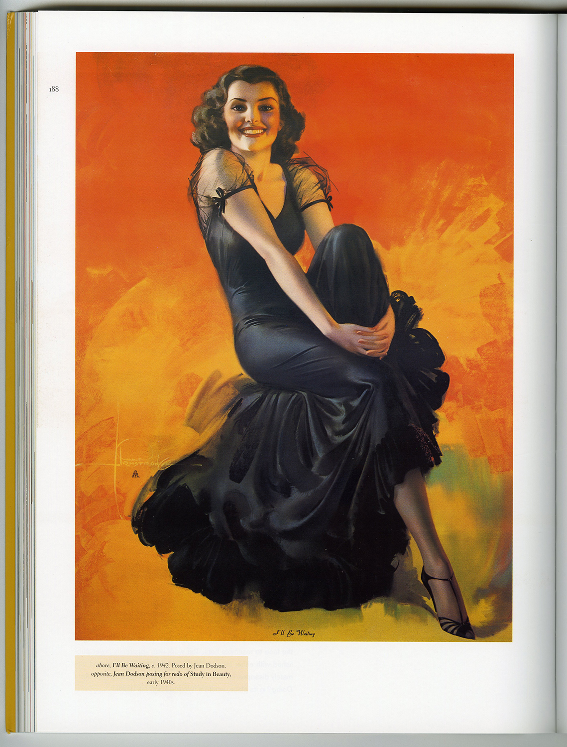 A full page color plate of the illustration as it appears on page 188 in Pin-Up Dreams: The Glamour Art of Rolf Armstrong